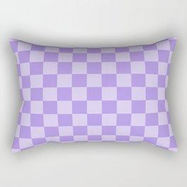 Lavender Check Rectangular Pillow