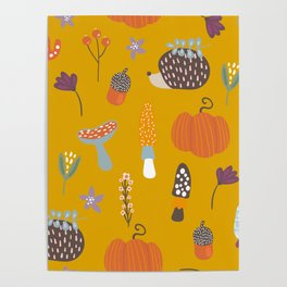 Fall Critters Poster
