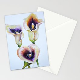 Sublime Bouquet Arum Calla Lilies in Watercolor Stationery Cards