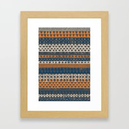 Hand-Painted Ethnic Pattern Framed Art Print
