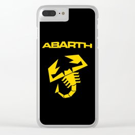 Abarth Scorpion yellow Clear iPhone Case
