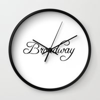 broadway Wall Clocks featuring Broadway by Blocks & Boroughs