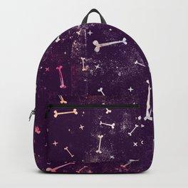 Dirty Bones on Purple Backpack