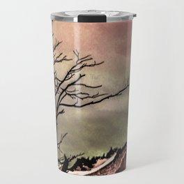 Fantasy Landscape Illustration Travel Mug