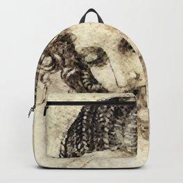 Study for the Head of Leda Artwork  Artist: Leonardo da Vinci Backpack