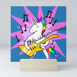 Unicorn Playing Guitar Mini Art Print