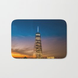 Sunset over New York City Bath Mat