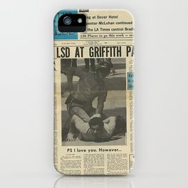 Free LSD in Griffith Park iPhone Case