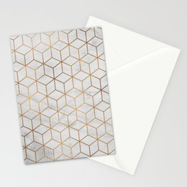 Marbled Copper Cubes Stationery Cards