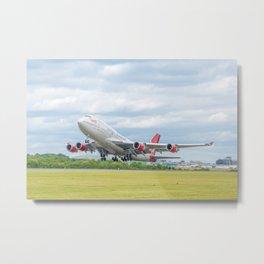 Virgin Atlantic Boeing 747 Metal Print