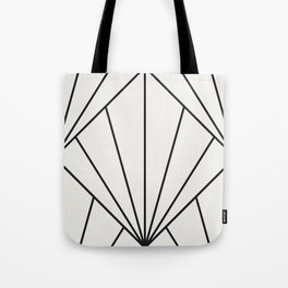 Diamond Series Sun Burst Charcoal on White Tote Bag