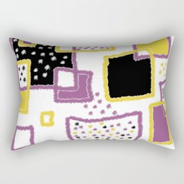 fuzzy rectangles Rectangular Pillow