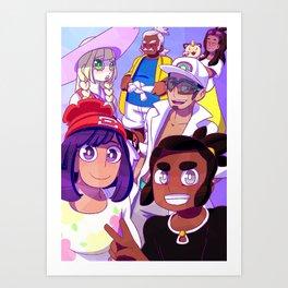 Friends from Melemele Island - Moon Art Print