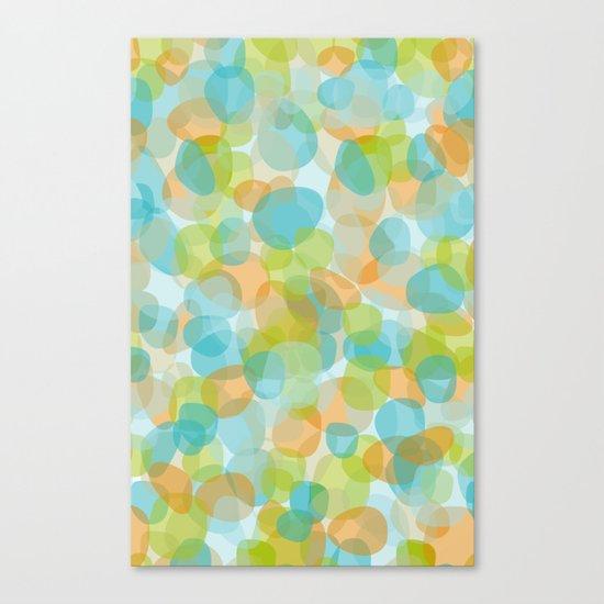 Pebbles Turquoise Canvas Print