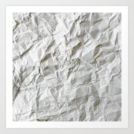 Crinkled Blues Art Print