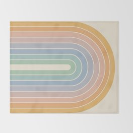 Gradient Arch - Rainbow III Throw Blanket