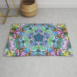 Five Points of Color Abstract Rug