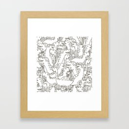 Dinosauriformes Framed Art Print