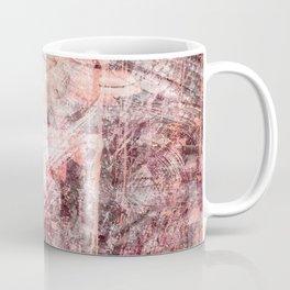 Mauve Grunge Flower Coffee Mug