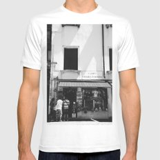 Window shopping in Venice White Mens Fitted Tee MEDIUM