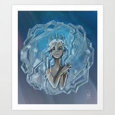 Ice Afro Queen Art Print