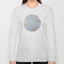 Rose Gold & Baby Blue Long Sleeve T-shirt