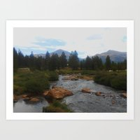 yosemite Art Prints featuring Yosemite by Mary Spinney