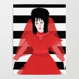 Lydia in Red Poster