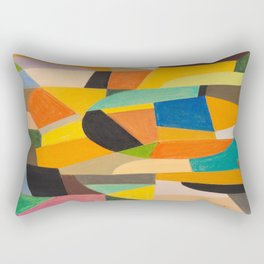 Otto Freundlich German Untitled, 1930–1935 Pastel Geometric Colorful Art Rectangular Pillow