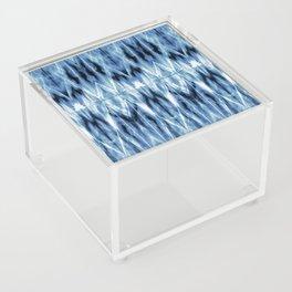 Blue Satin Shibori Argyle Acrylic Box
