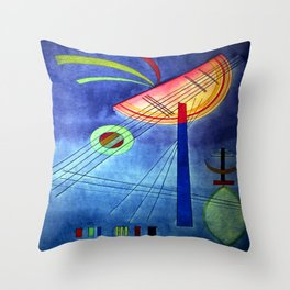 Wassily Kandinsky Inclined Semicircle Throw Pillow