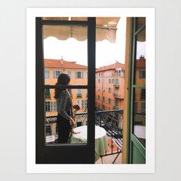 French Balcony Art Print