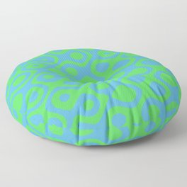 Brain Coral Green - Coral Reef Series 021 Floor Pillow