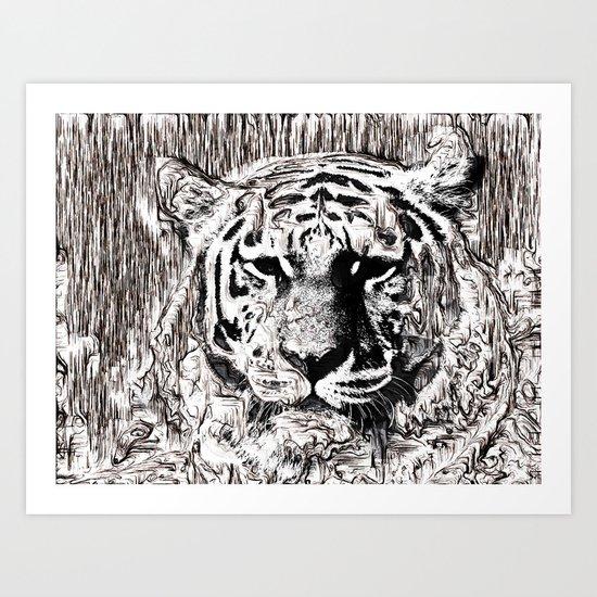 Tiger BW Art Print