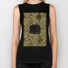 Bridges Burned – Gold Biker Tank
