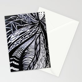 Gaia's Garden in Black & White 3 Stationery Cards