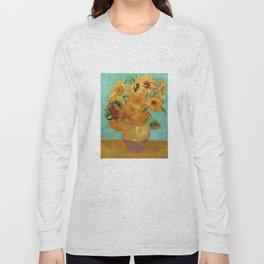 Vincent Van Gogh Twelve Sunflowers In A Vase Long Sleeve T-shirt