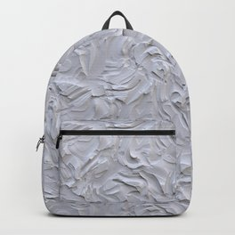 White Rough Plastering Texture Backpack
