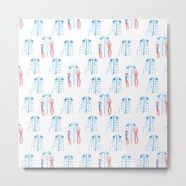 shower pattern Metal Print