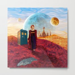 13th Doctor at Gallifrey Planet Metal Print