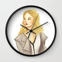moriarty Wall Clocks featuring elementary: moriarty by roanne Q