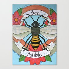 Bee Humble Canvas Print