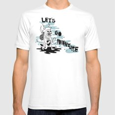 Lets Go Adventure White MEDIUM Mens Fitted Tee