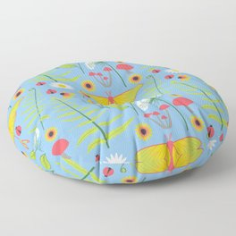 Botanical Woodland Forest Floor Pillow