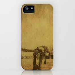 Saddle On The Hitching Post iPhone Case