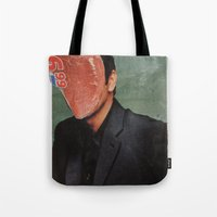 kevin russ Tote Bags featuring Kevin by Marko Köppe