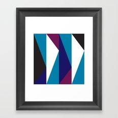 Blue Purple Triangle Pattern Framed Art Print