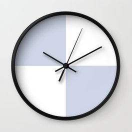 Pale blue gray boxes Wall Clock