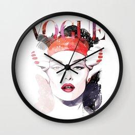 Vogue Fashion Illustration #6 Wall Clock