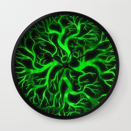 Emerald Branches Wall Clock